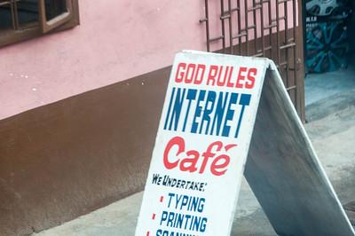 Internet cafe sign at Takoradi, Ghana