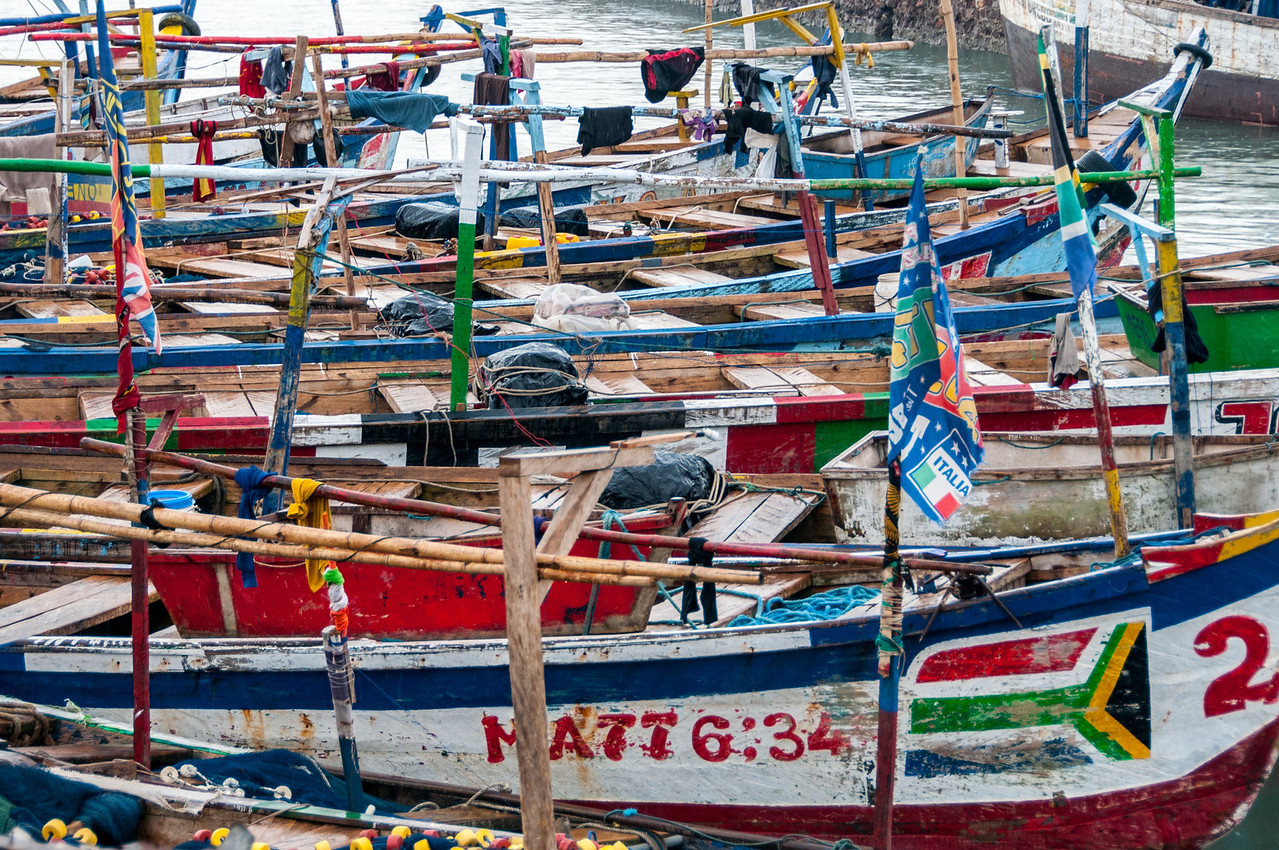 Fishing boats in Takoradi, Ghana