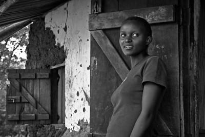 Shop girl. Ukwala, Kenya