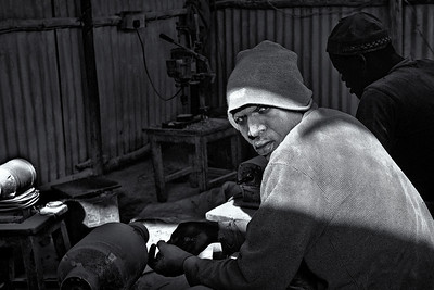 Jewelry makers, Kibera, Nairobi, Kenya
