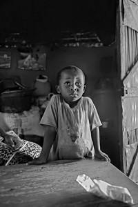 Attentive young client. Home visit, Rural health initiative. Matibabu Foundation. Ugenya, Kenya