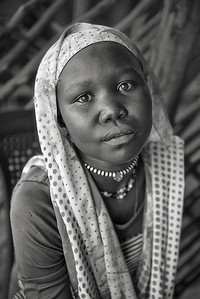 Young shop girl. Gendrassa, Maban County, Republic of South Sudan