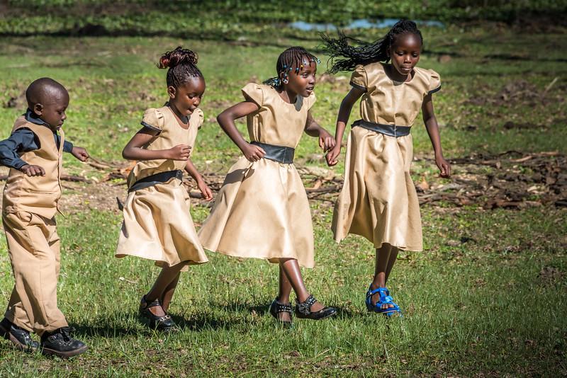 Local Church Dancers, Lake Naivasha Kenya