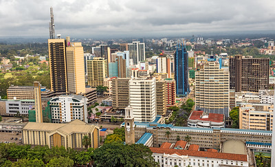 Central business district of Nairobi, Kenya