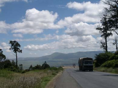 the first day's ride, out of nairobi looking down to the great rift vally
