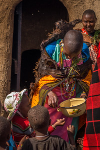 With the Maasai at the Maji Moto Cultural Camp outside of Narok, Kenya.