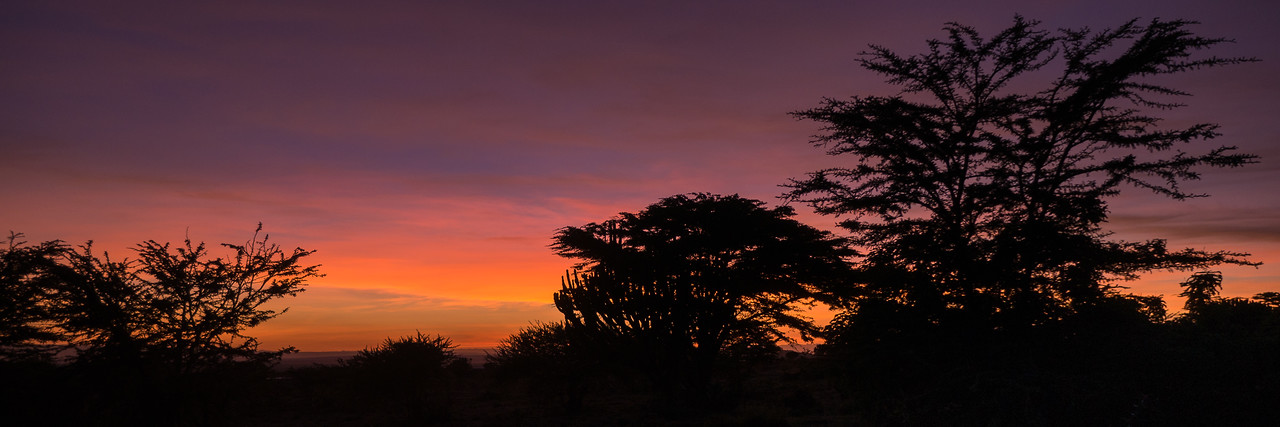 Sunrise over the Loita Plains in Kenya