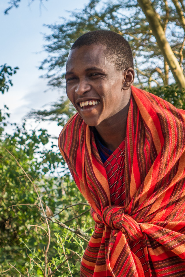 With the Maasai at the Maji Moto Cultural Camp outside of Narok, Kenya.