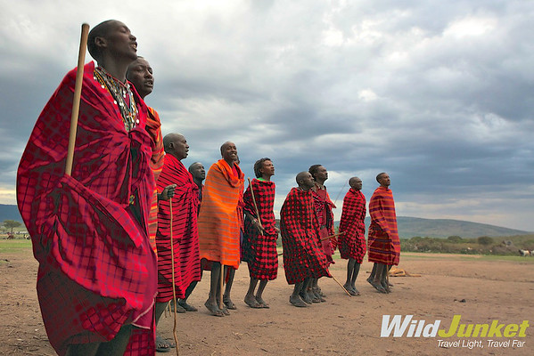 The Masai perform the jumping dance