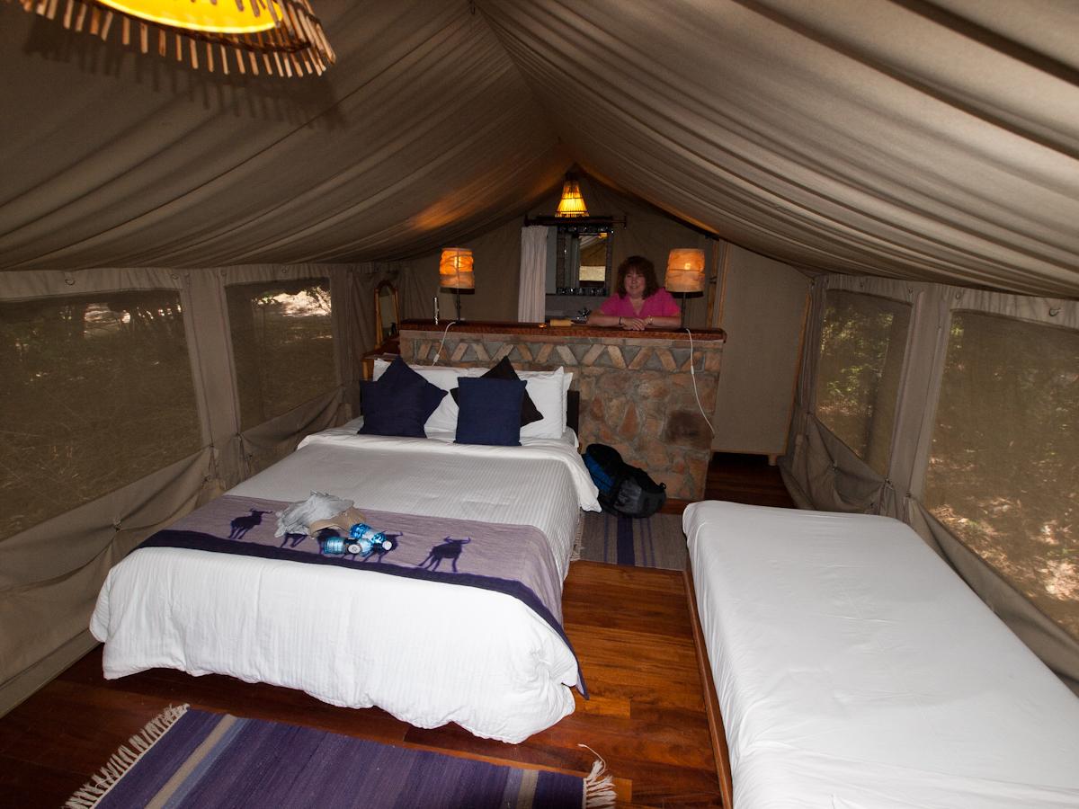 Our Sarova Mara Tent.