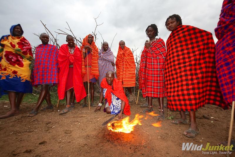 肯尼亚村庄的村庄