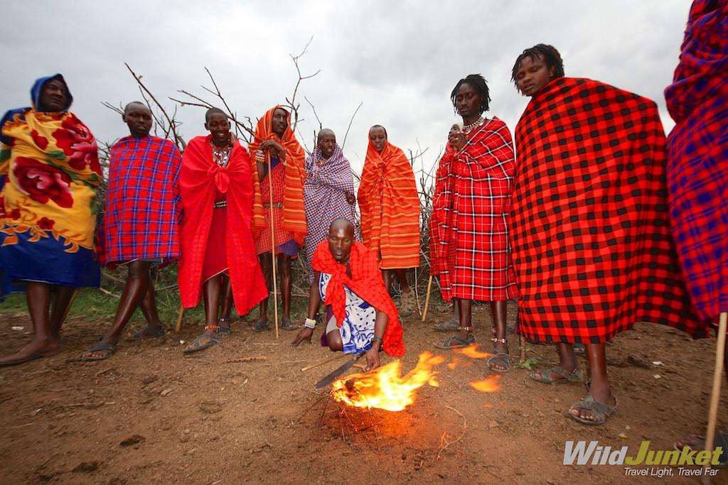 Making their own fire