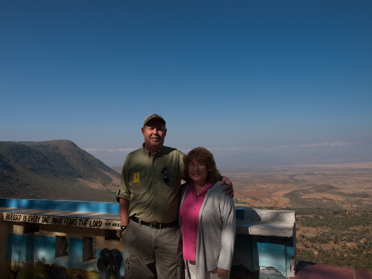 First stop in The Great Rift Valley.  An overlook.  On the way from Nairobi to the Masai Mara.