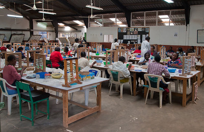 "In 1975, Lady Susan Wood set up a fledging business making beads in a small shed in her back garden. She started by hiring two disadvantaged women, and quickly realized that there were many more women who were in need of jobs and so Kazuri Beads was created and began its long and successful journey as a help center for the needy women especially single mothers who had no other source of income. In 1988 Kazuri became a factory and expanded hugely with over 120 women and men. Here women are trained and apply their skills to produce these unique and beautiful beads and jewelry. The beads are made with clay from the Mt Kenya area thus giving them authenticity to their craft. The factory acts as a social gathering with the hum of voices continuing throughout the day. With unemployment so high, one jobholder often ends up providing for an ""extended family"" of 20 or more. Kazuri is a member of the Fair Trade Act,"