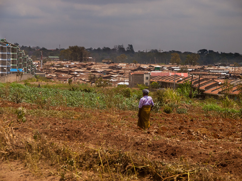 Kibera - sub-Saharan Africa's largest shantytown.  The 2nd largest mega slum in the world.  Outside of Nairobi, Kenya.