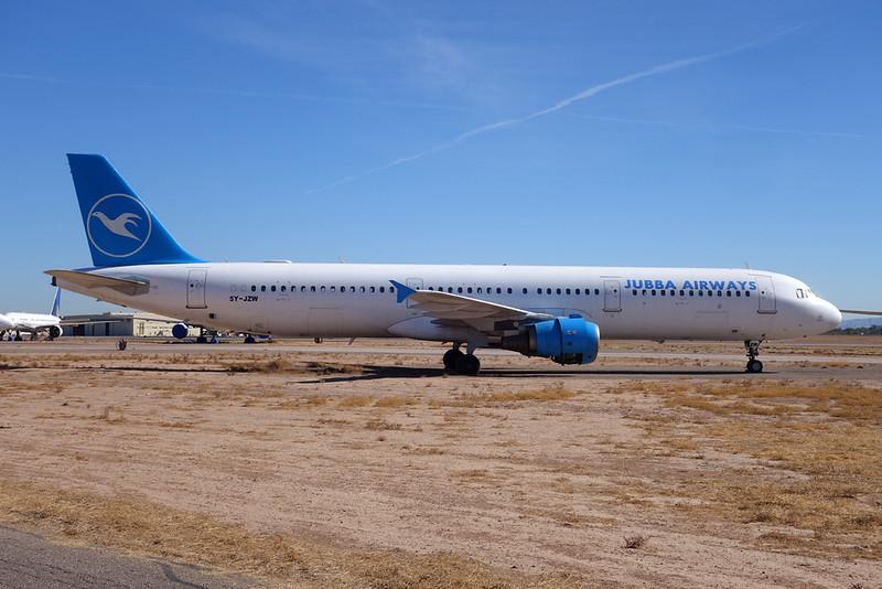 """5Y-JZW Airbus A321-111""""Jubba Airways"""" Goodyear/KGYR/GYR 28-01-18"""