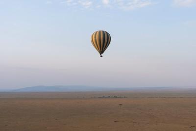 Hot air balloon over the Maasai Mara