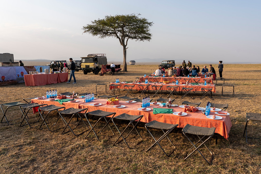 Breakfast in the Maasai Mara