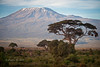 Mount Kilimanjaro, Tanzania as seen from Amboseli NP, Kenya