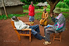 House call, HIV counselling during village rounds with Thomas Sadimba of Matibabu Foundation's Rural Health Initiative. Ugenya, Kenya