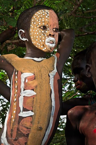 Surma boy, Kibbish, South Omo, SNNPR, Ethiopia