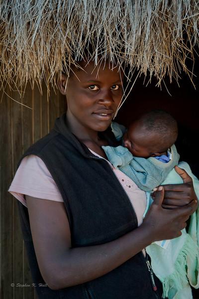 Young mother and child. Lifunga, Kenya