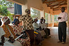 Dr. Ben taking questions. Daily morning HIV/AIDS counseling session. Ukwala health center, Kenya
