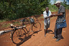 Chance encounter with grateful villager while on rounds for rural health initiative. Ugenya, Kenya