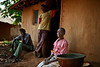 Family meeting. Rural health initiative. Ugenya, Kenya