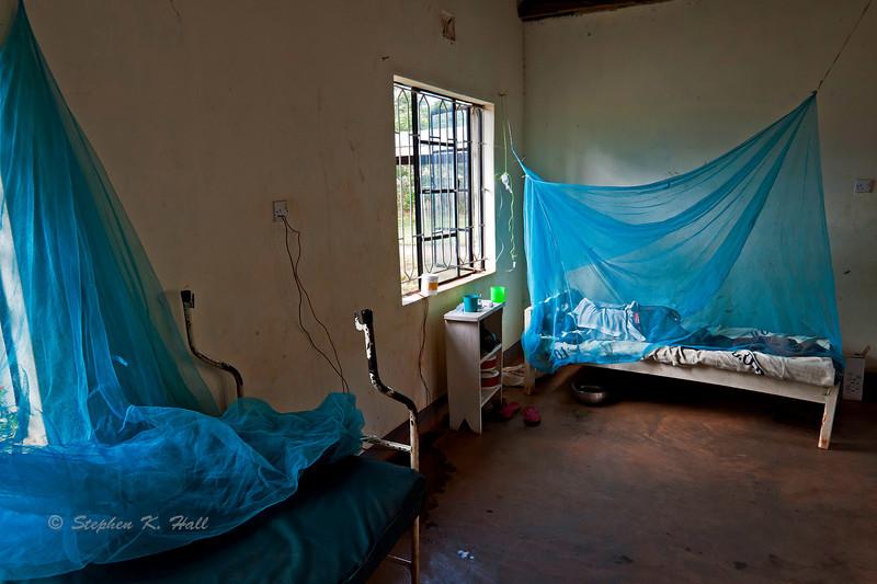 Hospital ward, malaria victim. Ukwala, Kenya