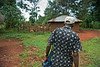 Rurual health worker on daily village rounds. Ugenya, Kenya
