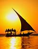 Boat in sunset in Zanzibar - 11X14