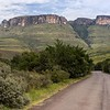 We were heading for the entrance to Royal Natal National Park; the cliff faces started becoming clearer.