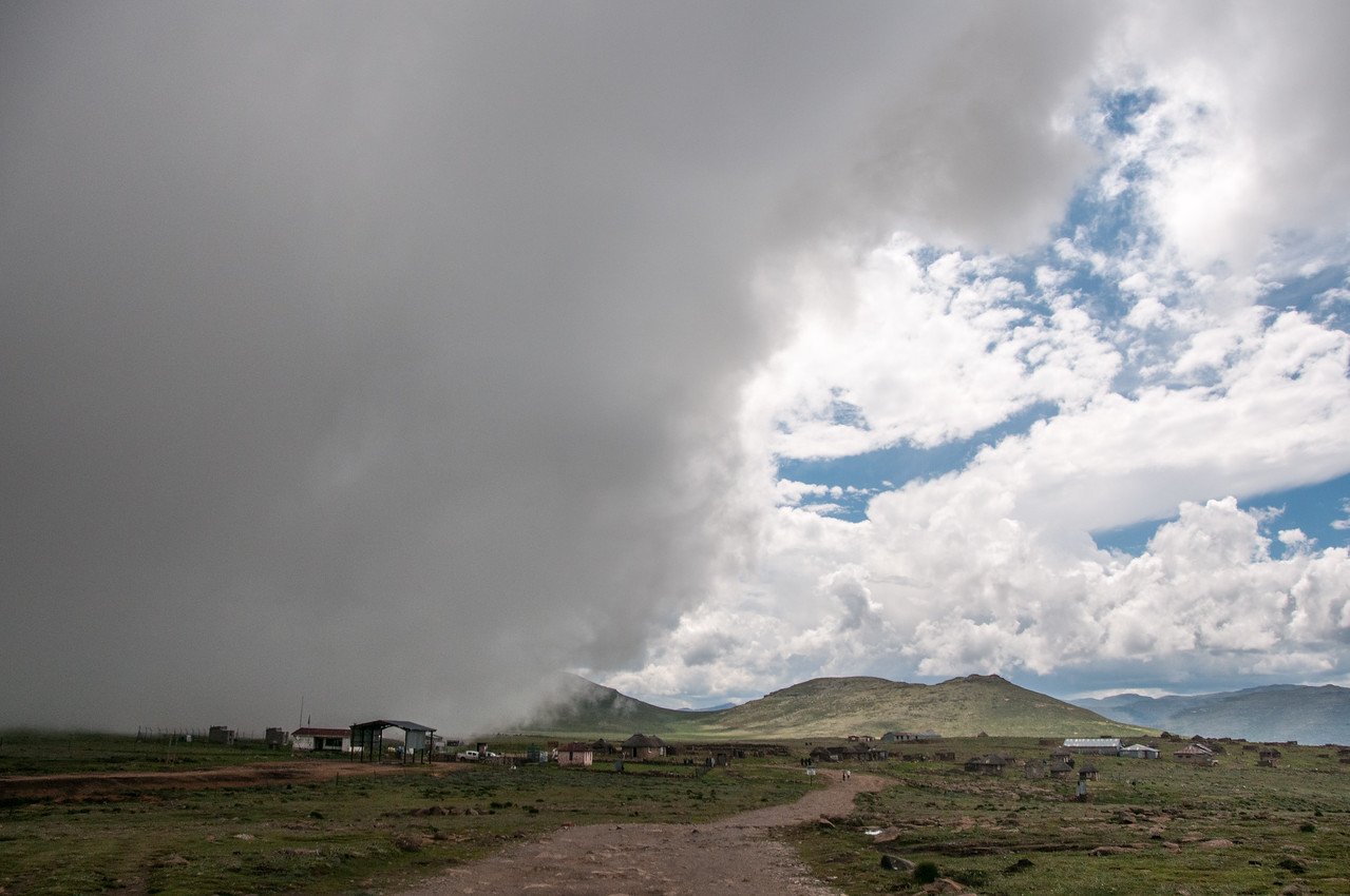 Incoming clouds over the Sani Pass, Lesotho