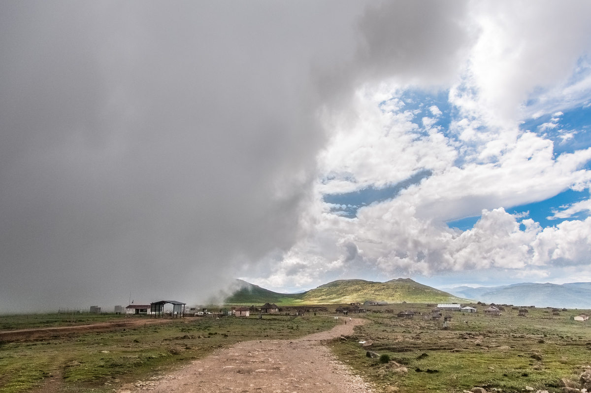 Incoming Clouds at the Sani Pass, Lesotho