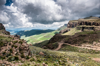 Scenery at the Sani Pass, Lesotho