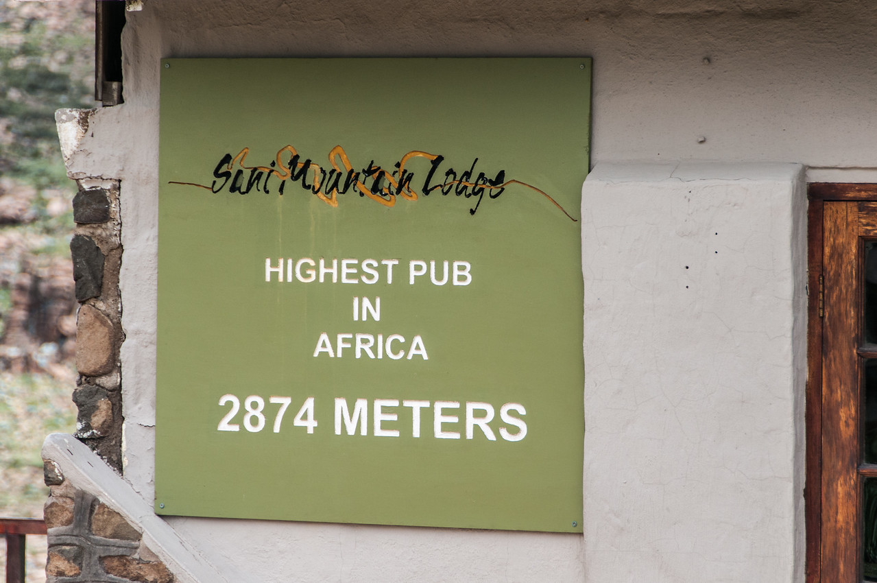 Pub at the highest point of Sani Pass, Lesotho