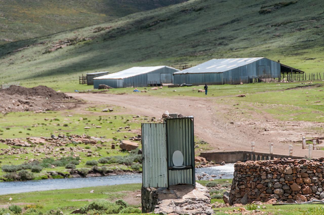 Public restroom along the Sani Pass, Lesotho