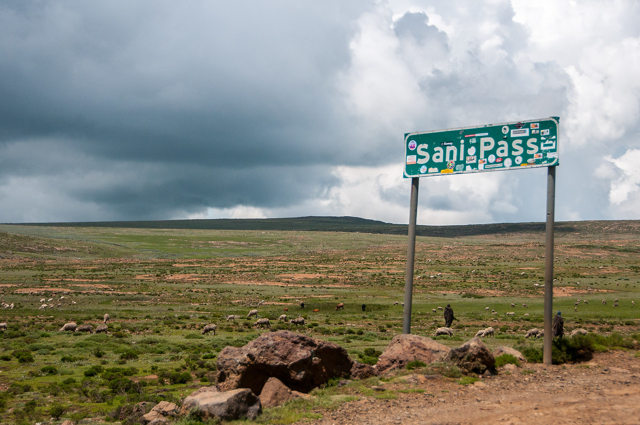 Sign along the Sani Pass, Lesotho