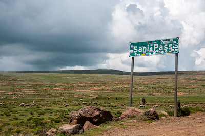 Sign along the Sani Pass, Lesotho