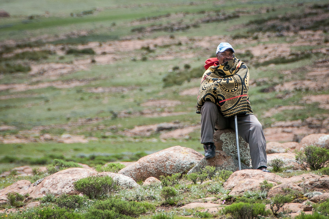Local at the Sani Pass, Lesotho