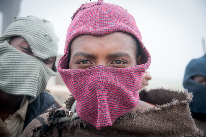 Locals at the Sani Pass, Lesotho