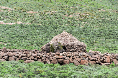 Traditional houses in the Sani Pass, Lesotho
