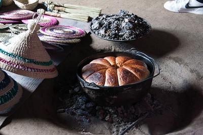 Baked goodies along the Sani Pass, Lesotho