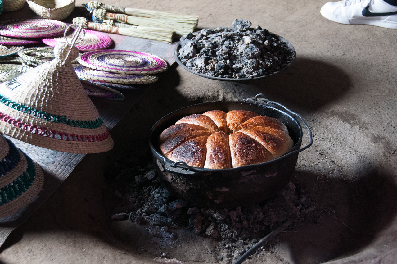 Baked goodies along the Sani Pass, Lesotho
