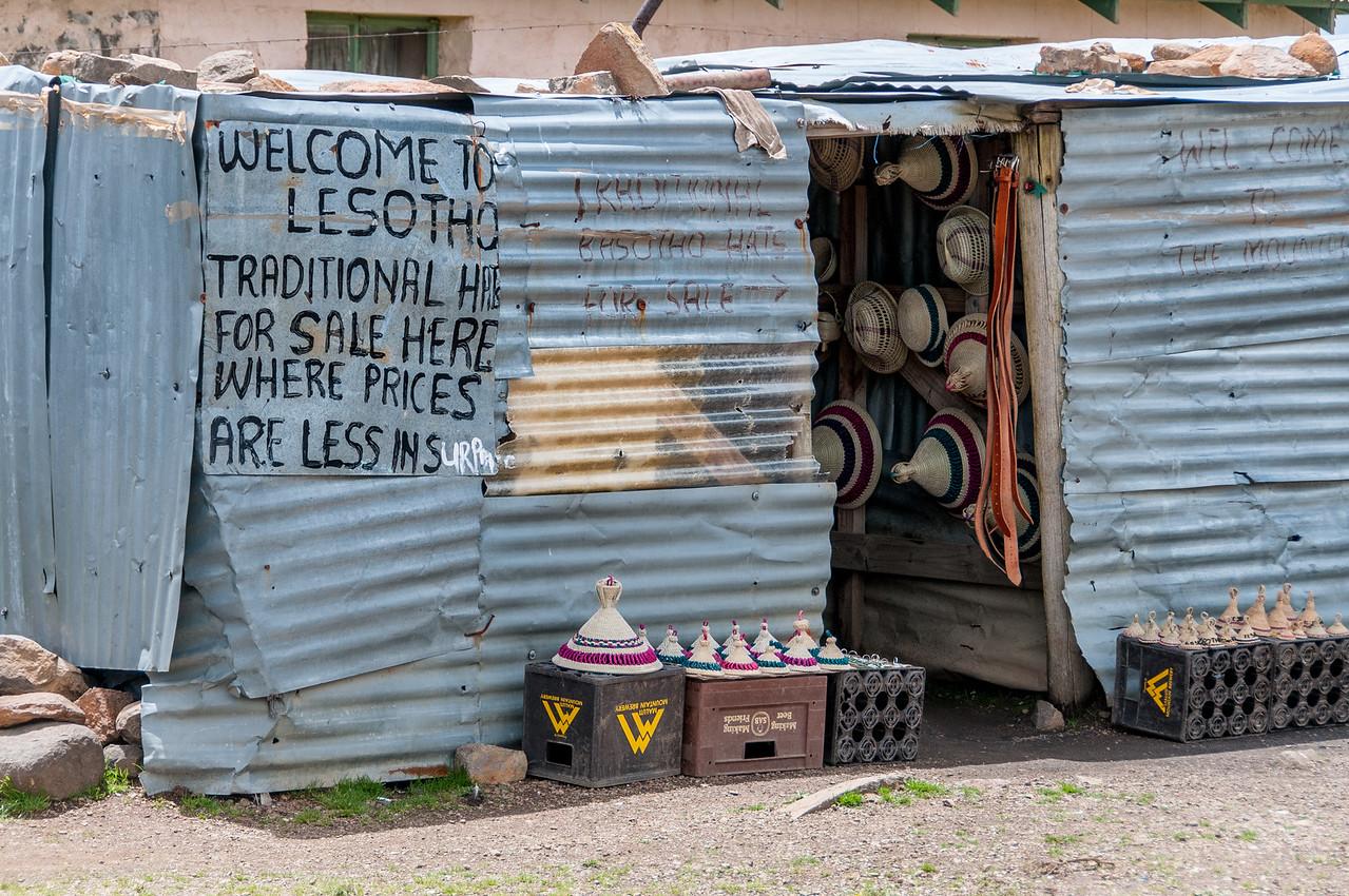 Shop along the Sani Pass, Lesotho