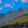 At the top of the ridge, the Lesotho border