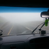 Going through clouds on the drive up