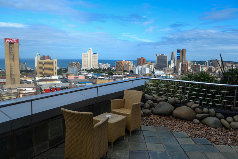 View over Durban from the Hilton's Executive Lounge