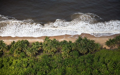 Aerial view of Liberia